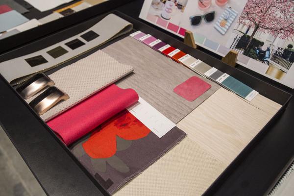 bows & sequins color palette mood board bmw