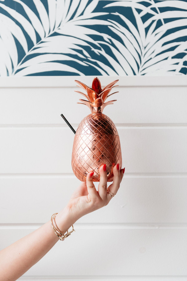 copper pineapple summer drink hampton social chicago the royal treatment
