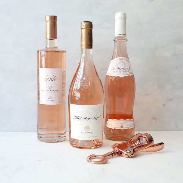 Bows & Sequins' favorite French rosé wines from Provence: Whispering Angel, Vie Vite, AIX, and more.