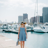 Gingham Dress at Belmont Harbor