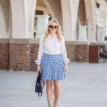 Oxford Shirt + Gingham Skirt