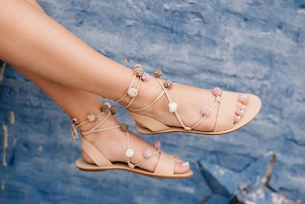loeffler randall saskia pom pom sandals
