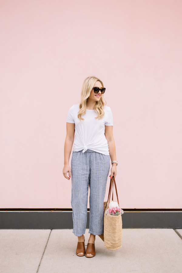 how to style patio pants weekend outfit