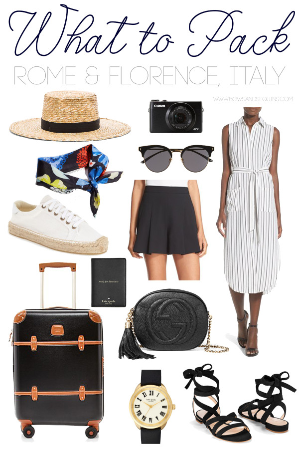 @bowsandsequins' Packing Guide for Going to Italy in the Summertime! Rome, Italy, Venice, Tuscany, and more!