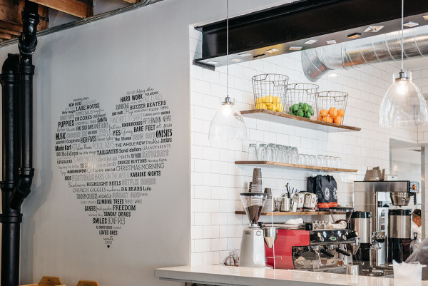 Left Coast Food in Chicago is one of @bowsandsequins' favorite spots for healthy eating and working remotely!