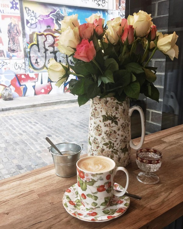 Found the cutest coffee shop in shoreditch today!  prettycuppacoffeeshophellip