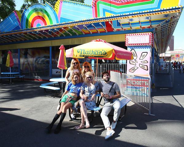 Bloggers in Coney Island Amusement Park // Rachel Nguyen, Gregory Dava, Jessica Sturdy, Lauren Wells, Cambria Grace