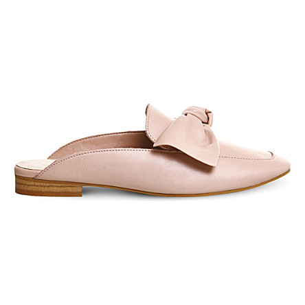 Must-Have Fall Trend: Slip-On Loafers // Blush Leather Bow Mule
