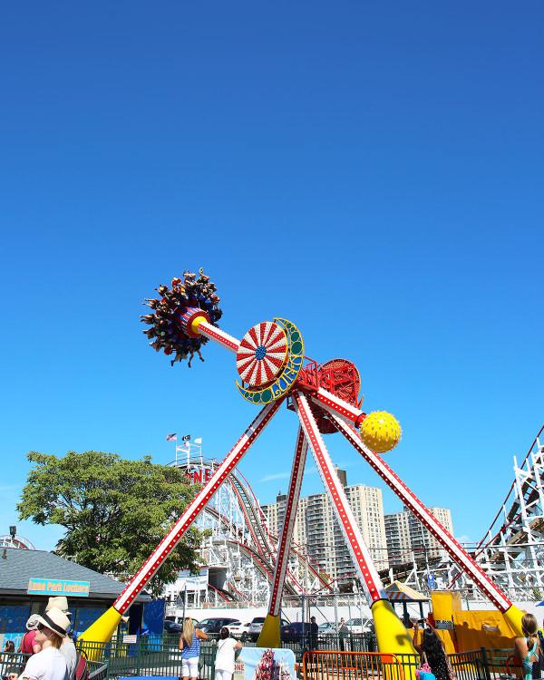 Upside down rides at Coney Island Amusement Park