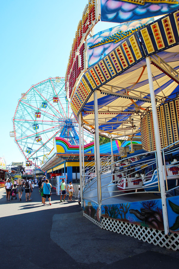 Rides at Luna Park Coney Island Amusement Park NYC