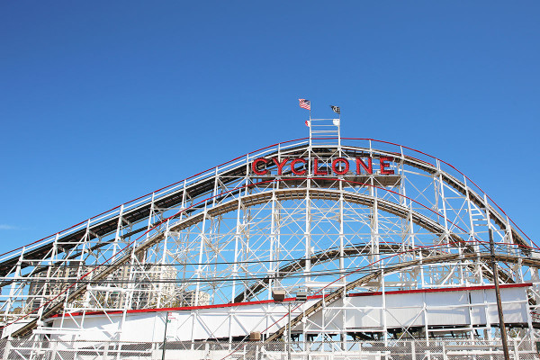 The Cyclone at Coney Island's Luna Park in Brooklyn, NYC
