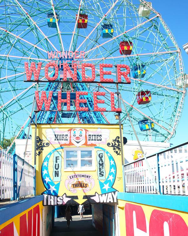 The Wonder Wheel Ferris Wheel at Coney Island in Brooklyn NYC