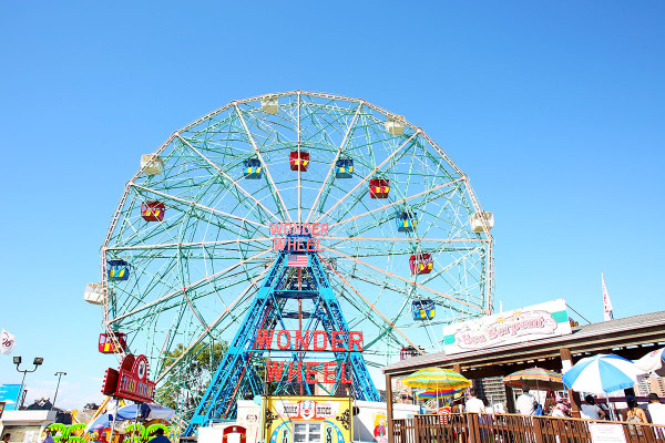 The Wonder Wheel Ferris Wheel at Coney Island in Brooklyn NYC