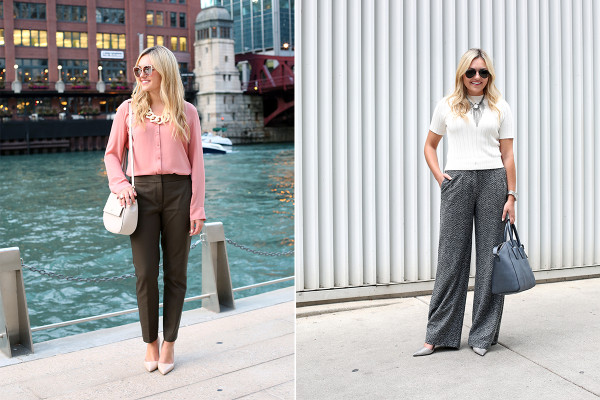 Bows & Sequins styling Express' new pants for fall!