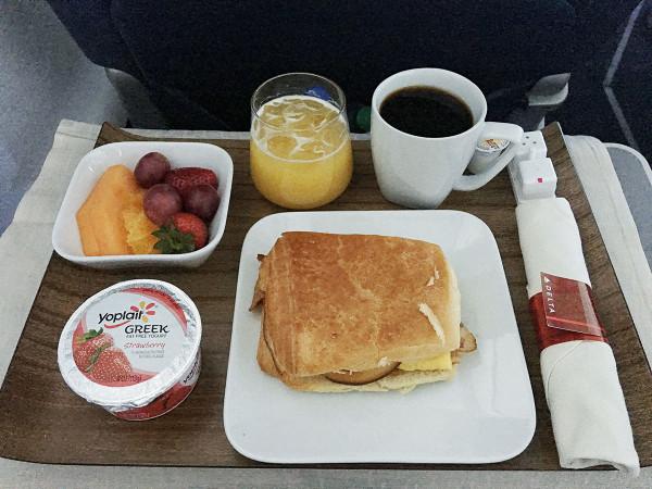 Delta First Class Breakfast