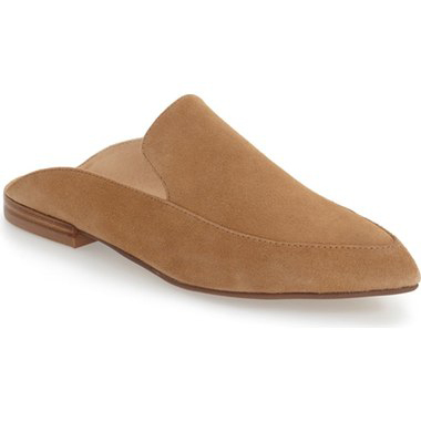 Must-Have Fall Trend: Slip-On Loafers // Caramel Suede Mules