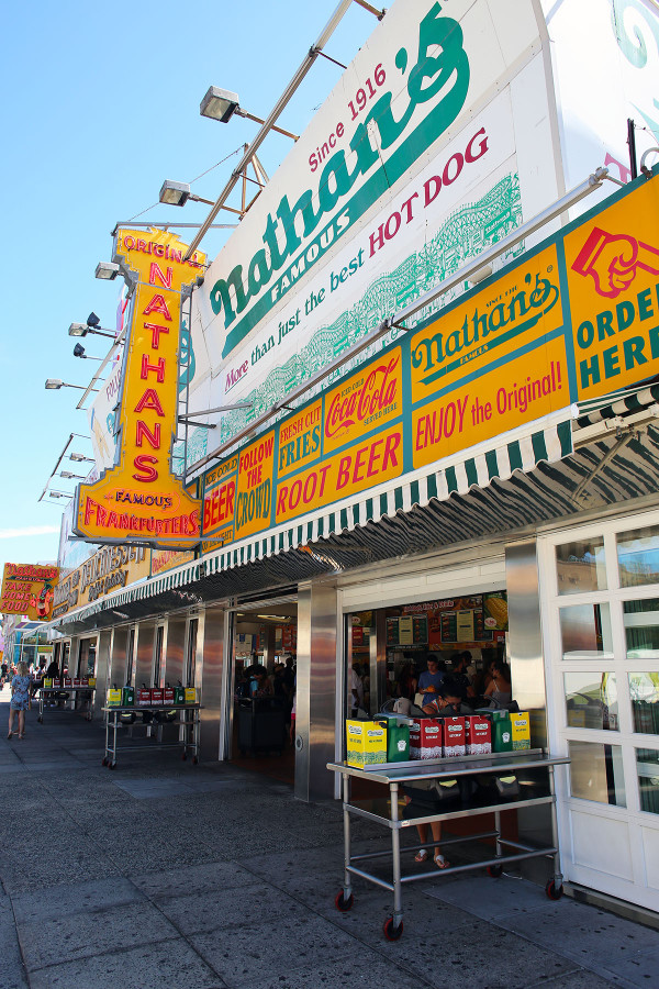 Nathans Famous Hotdogs Original Location Coney Island Brooklyn NYC