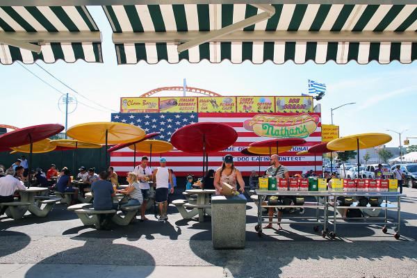Nathans Famous Hotdogs Original Location Coney Island Brooklyn NYC
