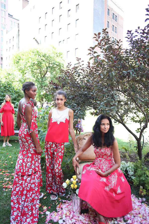 Ethereal secret garden at Tracy Reese spring/summer 2017 NYFW presentation at the New York Marble Cemetery in the East Village