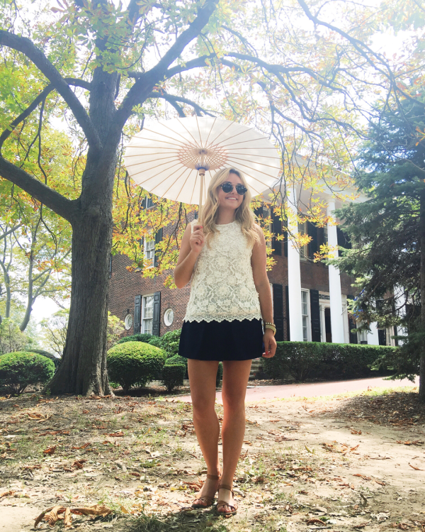 Bows & Sequins on Governors Island in NYC // How to style a Parasol