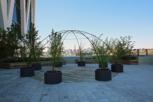 The stunning view of the Manhattan skyline from the new William Vale Hotel in Williamsburg Brooklyn!
