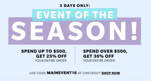 Shopbop Fall Sale Promo Code 30% Off