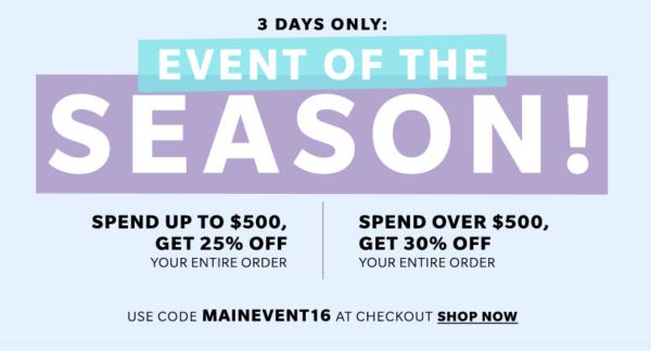 Shopbop Fall Sale Promo Code 30% Off