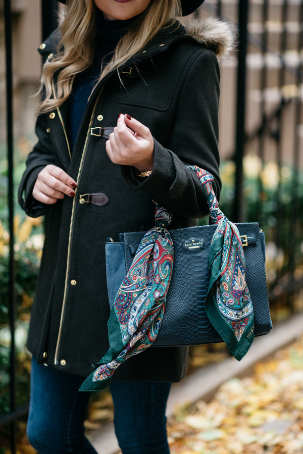 How to Tie a Scarf on Your Handbag