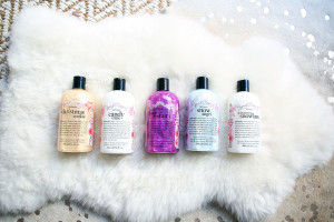 Philosophy Holiday Body Washes: Christmas Cookie, Candy Cane, Sugar Plum Fairy, Snow Angel, Shimmering Snowlace