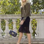 Lace Dress + Suede Moto