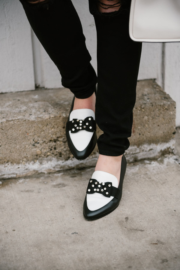 black-and-white-kate-spade-bow-loafers