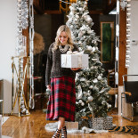 What I'm Wearing on Christmas: Plaid + Pearls