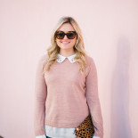 What I Wore on Christmas Eve: Camel Coat + Blush Pink Sweater