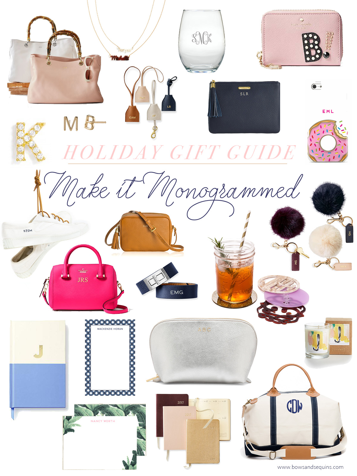 The best monogrammed and personalized holiday gifts! | 2016 Bows & Sequins Gift Guide