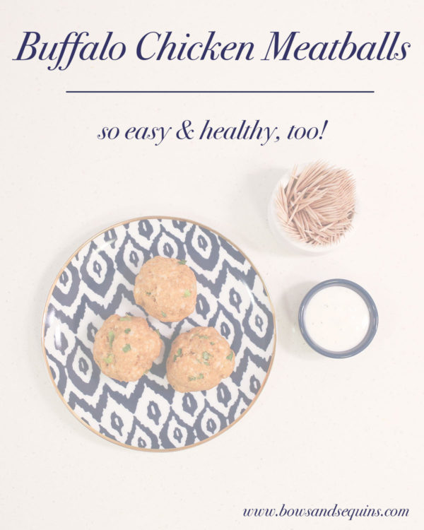 Healthy Buffalo Chicken Meatball Recipe
