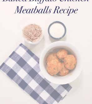 Baked Buffalo Chicken Meatball Recipe