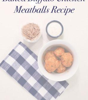Baked Buffalo Chicken Meatball Recipe