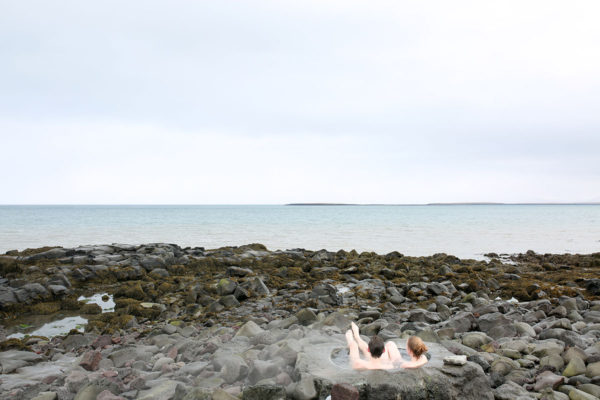 Bows & Sequins Iceland Travel Guide: Two Love Birds in a Footbath