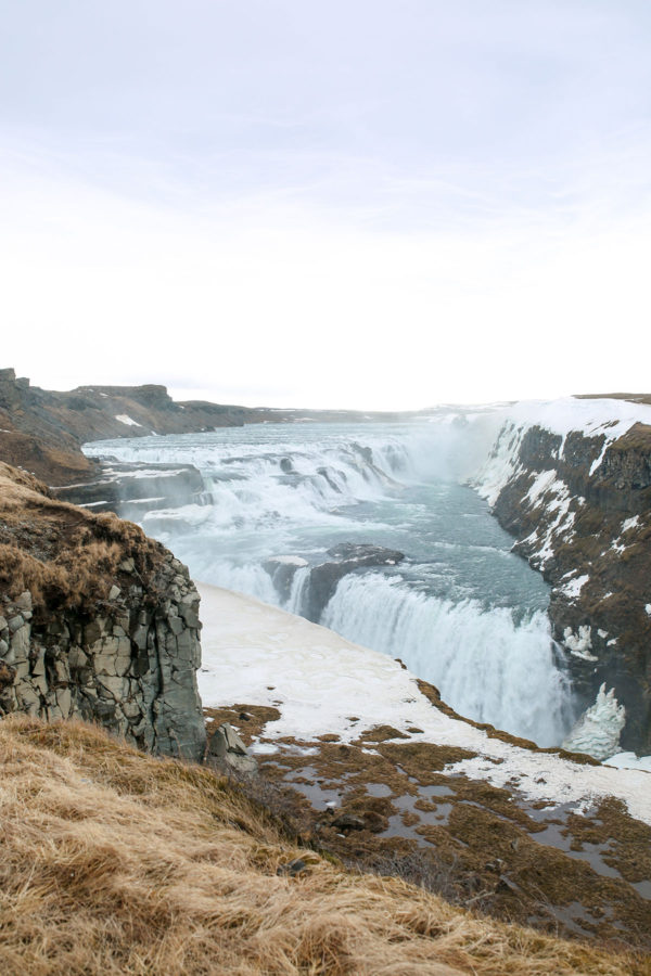 Bows & Sequins Iceland Travel Guide: Gullfoss Waterfall on Golden Circle Tour