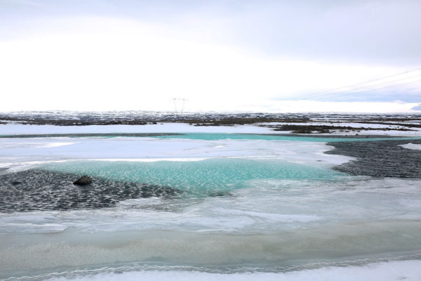 Crazy Iceland Terrain Bright Blue Water