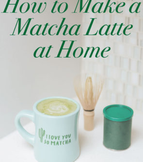 Bows & Sequins Matcha Green Tea Latte Recipe