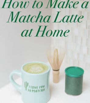 Bows & Sequins Matcha Green Tea Latte Recipe
