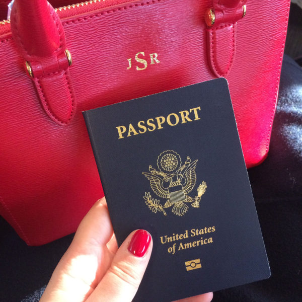 Monogrammed Ralph Lauren Bag and US Passport