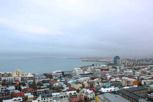 Bows & Sequins Iceland Travel Guide: Colorful View of Reykjavik from Hallgrimskirkja Church Tower