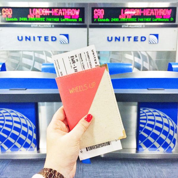 Wheels Up Passport Case on the way to London Heathrow!