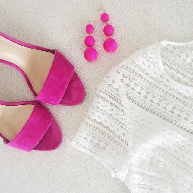 Bright white  pops of pink httpliketkit2qxyA liketkit pink