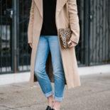Weekend Wear: Slides + Camel Coat
