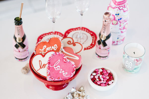 Bows & Sequins throwing a Valentine's Day party for her girlfriends.