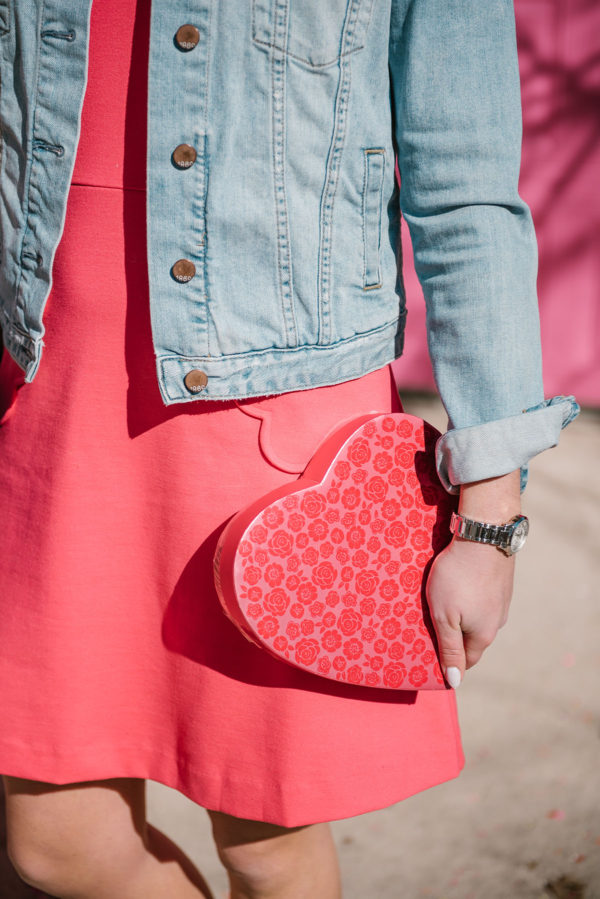 Bows & Sequins wearing a Gap jean jacket.
