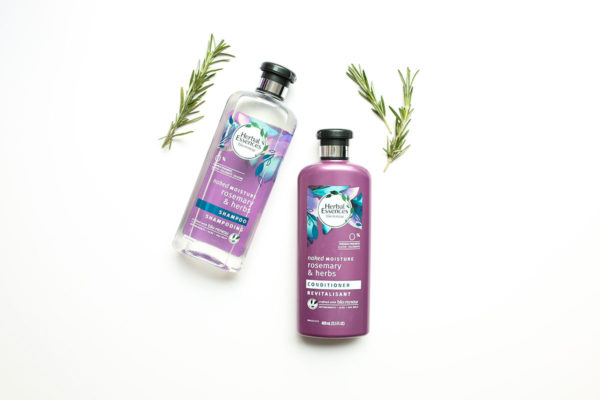 Bows & Sequins Beauty Review: Herbal Essences bio:renew Naked Moisture Rosemary & Herb Shampoo & Conditioner